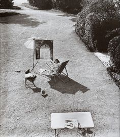 Lartigue. Bibi in the castle garden Rouzat after the birth of Dani. September 1921.