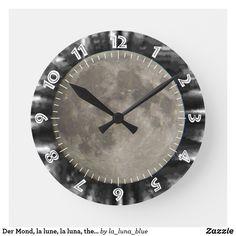 Der Mond, la lune, la luna, the moon Uhr