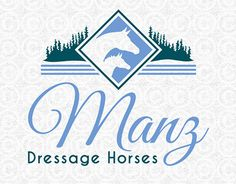 Customized horse logo design created for Susanne Manz of Manz Dressage Horses. Horse Logo, Dressage Horses, Custom Logos, Logo Design
