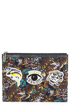 KENZO+Print+Zip+Pouch+available+at+#Nordstrom
