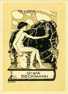 Georg Jilovsky. Ex libris for  Gisa Beckmann.