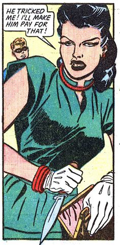 """Comic Girls say.. """"He tricked me ! I'm gonna make him pay for that !""""  #comic #vintage #popart"""
