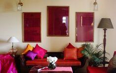 Framed sari pallus. Shivani Dogra. I want to do this with my grandmother's wedding sari.