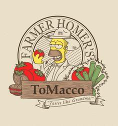 Farmer Homer's ToMacco - BustedTees - Image 0
