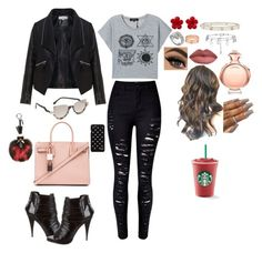 """""""Street Style #68"""" by valensmilerstyle ❤ liked on Polyvore featuring Bulgari, Zizzi, Givenchy, Yves Saint Laurent, Diane Von Furstenberg, Fendi, Chanel, Cartier, Paco Rabanne and women's clothing"""