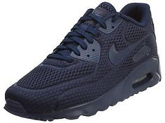 newest 45045 b2243 Nike Air Max 90 Ultra BR Mens 725222-401 Midnight Navy Running Shoes Size 12