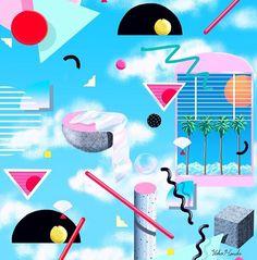 Yoko Honda · Illustration . 80's inspired artwork