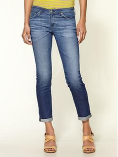 Crops: boyfriend, skinny, any. AG Adriano Goldschmied The Stilt Roll Up Jeans | Piperlime