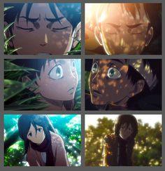 Shingeki no Kyojin -- Eren & Mikasa Attack On Titan Eren And Mikasa, Humanoid Creatures, Eremika, Crochet Patterns, Hat Patterns, Sword Art Online, Studio Ghibli, Anime Couples, Ouran Host Club