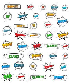 Abstract Creative concept vector pop art style set of comic text template with clouds beams and isolated dots pattern on background. For Web and Mobile Applications, illustration template design. Comic Template, Templates, Comic Text, Vector Pop, Mobile Applications, Beams, Pop Art, Graffiti, Dots