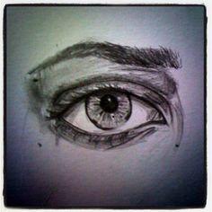 Pencil eye drawing - Zoe Samantha Halstead.