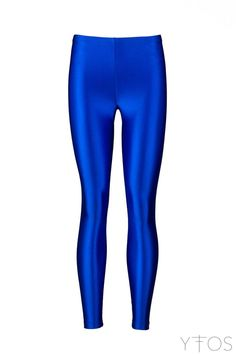 Blue shiny leggings