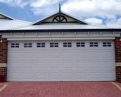 Regency with Stockton tinted windows Sectional Garage Doors, The Hamptons, Facade, Exterior, Windows, House Styles, Outdoor Decor, Perth, Ramen