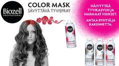 You should enter COLOR MASK Sävyttävä Tyvispray -testiryhmä. There are great prizes and I think one of us could win!