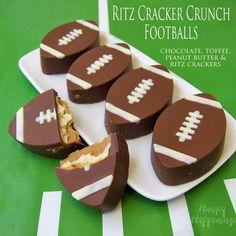 Ritz Cracker Crunch Footballs