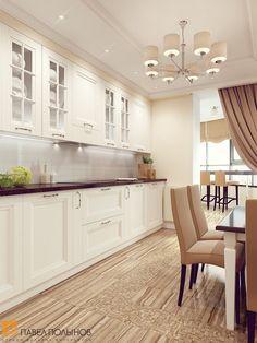 Kitchen in light beige colors - Best Interior Design Ideas Modern Kitchen Cabinets, Kitchen Cabinet Design, Kitchen Flooring, Kitchen Interior, Interior Design Living Room, Kitchen Decor, Dining Nook, Cuisines Design, Beautiful Kitchens