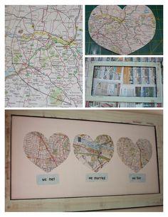 Love Maps!  Anniversary idea!