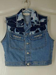 VTG CACHE Denim Vest Embellished Clean Med Excellent  #cache #vest #Casual