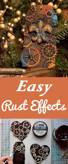How to create Easy Rust Effects with Rust Paste by Heather Tracy for The Graphics Fairy!