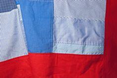 Tischdecke aus alten Hemden / Tablecloth made from old shirts / Upcycling