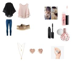 """""""VDAY OOTD #2"""" by kasai-presley ❤ liked on Polyvore featuring Chicwish, Frame Denim, Relaxfeel, Sperry Top-Sider, MAC Cosmetics, Bobbi Brown Cosmetics, Forever 21, Michael Kors, women's clothing and women"""