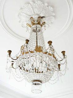 Antique crystal chandelier.