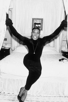 The Bomb Style Icons Who Made '89 Gorgeous #refinery29  http://www.refinery29.com/style-icons-1980s#slide-4  Grace Jones — Grace, Grace, Grace. We don't know what we love most about you: your music, your acting roles (um, Vamp?), or your look. Though we may not be brave enough to go bald, we certainly have considered it because of you. Photo: Rex USA...