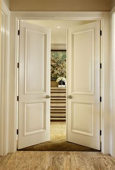 I love double doors going into the master bedroom...these doors I love as well