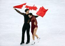 Tessa Virtue and Scott Moir won gold in ice dance on February 20 at PyeongChang Team Canada was also represented by duo Kaitlyn Weaver and Andrew Poje and duo Piper Gilles and Paul Poirier. Virtue And Moir, Tessa Virtue Scott Moir, Kaitlyn Weaver, Tessa And Scott, Gilles, Ice Dance, Canada, Figure Skating, Or