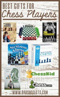 The best ideas for gifts for chess players. Shopping for chess players for Christmas or birthdays is easy if you know what you're looking for. Whether you're shopping for a kid or an adult, let us point you in the right direction to find the best gift. #chess #chessgifts #giftguide #giftideas #dadsuggests Board Games For Couples, Family Board Games, No Stress Chess, Building Games For Kids, Chess Books, Birthday Games For Adults, Chess Players, Cool Gifts For Kids, Family Christmas Gifts