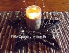 Primitive Country Iron Star Candle Pan
