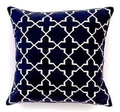 Black & White Westley Amagansett Pillow   MADELINE WEINRIB
