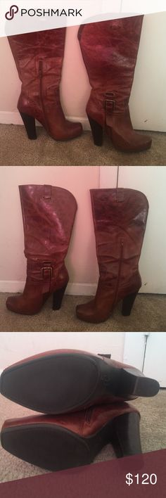 Jessica Simpson Boot.. in great condition JS Cowgirl Boots.. really cute on and off!! Jessica Simpson Shoes Heeled Boots
