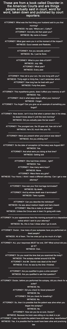 The Funniest Things People Have Ever Said In A Courtroom funny jokes story lol funny quote funny quotes funny sayings joke humor stories