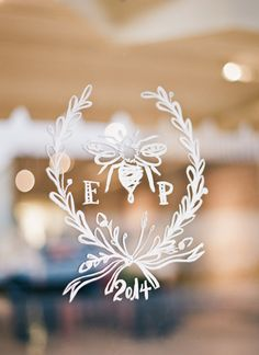 love this decal on their reception doors!   Mandy Busby