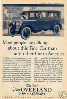 """Willys-overland Car Color Ad """"More People Are... (1925)"""