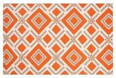 Cos Flat-Weave Rug, Orange