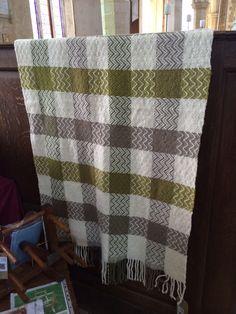 Hand woven blanket by Pat Littleboy