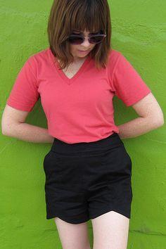 Shorts and Shirts Summer Wardrobe: Pattern Runway Sweet Shorts –