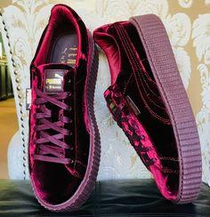 47b680823c152 PUMA BY RIHANNA VELVET CREEPER BURGUNDY SHOES SZ US M 10   EUR 43  PUMA   AthleticSneakers