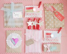 wrap up individual little presents and open one a day