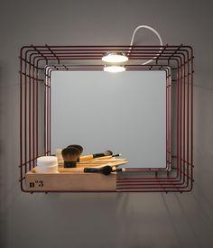 ACQUA E SAPONE BATH Wall cabinet with mirror by Birex design Monica Graffeo