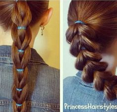 Reverse pull through braid