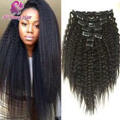 Find More clips in hair Information about Best 7A Virgin Brazilian Kinky Straight Clip In Hair Extensions 7Pcs/set Coarse Yaki Clip In Human Hair Extensions In Stock, High Quality wig care,China wig human Suppliers, Cheap wig show from Ali Young Hair Co.,Ltd on Aliexpress.com Email: bestaliyounghair@... whatsapp:+86 18653931830