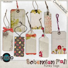 Bohemian Fall - Funky Tags - http://www.digitalscrapbookingstudio.com/store/index.php?main_page=product_info&cPath=13_392&products_id=23844