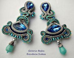 """Kolczyki sutasz (soutache) """"Capri"""" w Galeria Bajka Soutache Jewelry na DaWanda.com"""