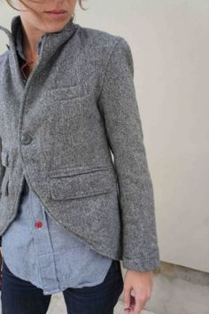 i can't help but think this would be easy to diy from a well fitting jacket at from a thrift store.   FWK Edward Jacket