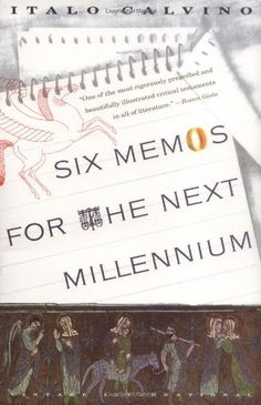 The last book suggested by Fabio Montagnino is Six Memos for the Next Millennium by Italo Calvino