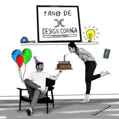 1 ano de Design Coringa www.designcoringa.com.br