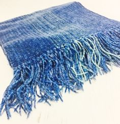 Woven Rayon Chenille Blueberry Scarf by Claire Perrault